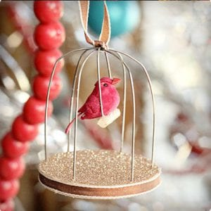 Homemade Birdcage Ornament