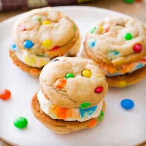 Homemade M&M Cookies and Ice Cream Sandwich Tutorial