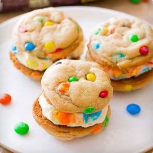 Homemade M&M Cookies and Ice Cream Sandwich Tutorial
