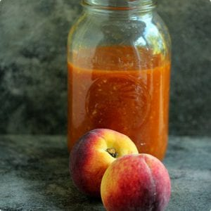 Homemade Peach Barbecue Sauce
