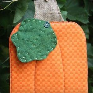 Hot Pad Pumpkin Craft