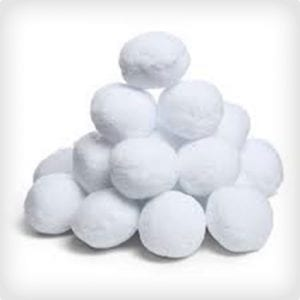 Indoor Snowball Kids Craft