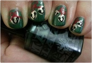 Jingle Bells Inspired Nail Art