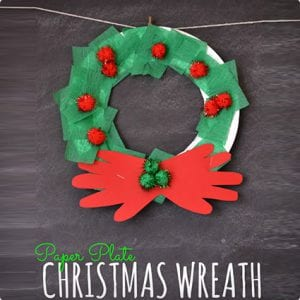 Kid Craft Holiday Paper Plate Wreath