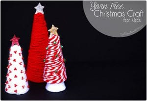 Kid Craft Yarn Christmas Tree
