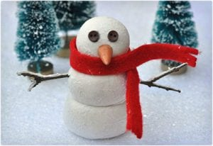 Kid Friendly Clay Snowman Craft