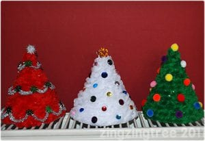 Kid Friendly Fluffy Christmas Tree Cone Crafts
