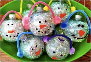 Kid Friendly Sparkling Snowman Ornaments