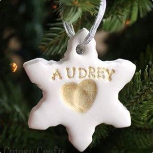 Kid's Fingerprint Clay Ornaments