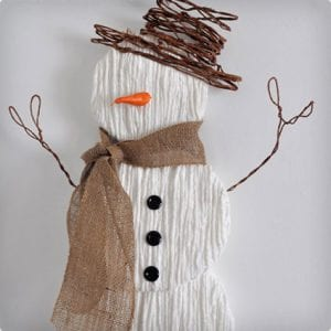 Large Yarn Snowman Decoration