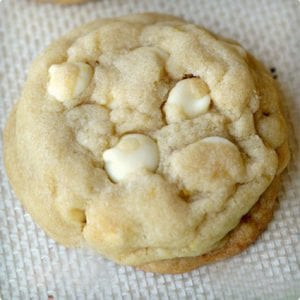 Lemon and White Chocolate Chip Cookies
