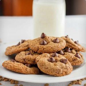 Lentil Flour Chocolate Chip Cookies