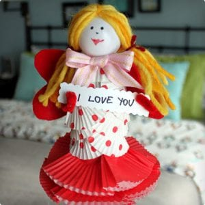 Little Miss Dolls Made From Toilet Paper Rolls