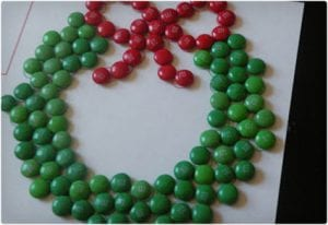M&M Wreath Activity For Young Kids