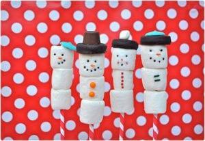Marshmallow Snowmen On A Stick