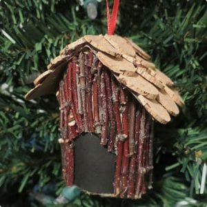 Mini Bird House Ornament Tutorial
