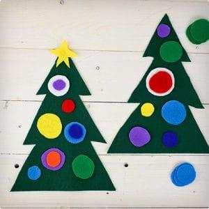 Mini Felt Christmas Tree Craft Project