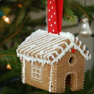 Mini Gingerbread House Ornaments