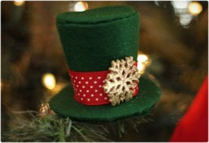 Mini Top Hat Ornament Tutorial