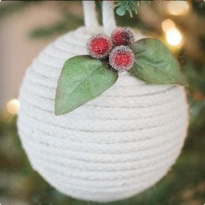 Nautical Rope Ornament Tutorial