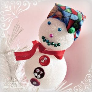 No Sewing Needed Styrofoam Snowmen Tutorial