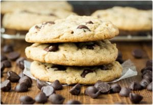 Oatmeal, Peanut Butter, and Chocolate Chip Cookies