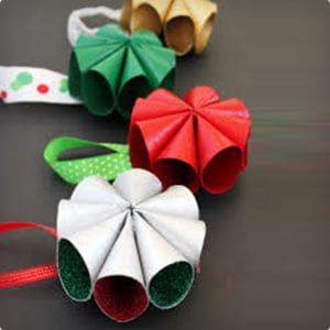 Old Fashioned Inspired Ornaments Using Toilet Paper Rolls