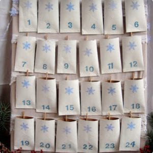 Open Pocket Advent Calendar