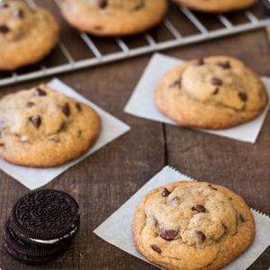 Oreo Stuffed Chocolate Chip Cookies