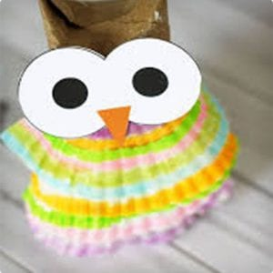 Owl Ornament/Doll Made From Toilet Paper Roll