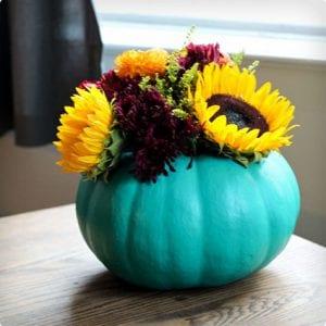 Painted Pumpkin Vase Craft
