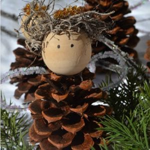 Pine Cone Christmas Angels