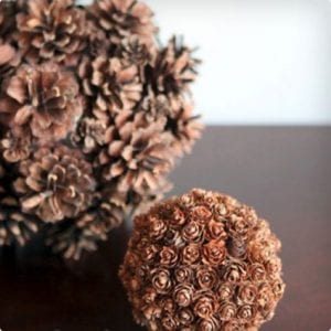 Pine Cone Spheres Tutorial