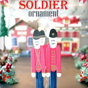 Popsicle Stick Christmas Soldiers