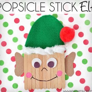 Popsicle Stick Elf Kids Holiday Craft