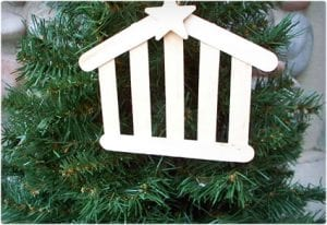 Popsicle Stick Stable Ornament