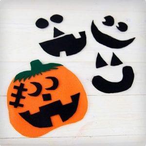 Preschool Pumpkin Felt Craft