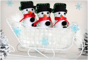 Puffy Felt Snowmen For Decoration