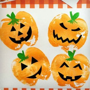 Pumpkin Apple-Stamp Painting Craft