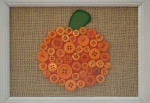 Pumpkin Button Decor