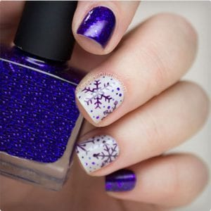 Purple Snowflakes and Glitter