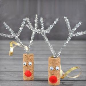Quick DIY Reindeer Cork Ornaments