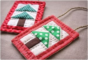 Quilted Christmas Tree Ornament