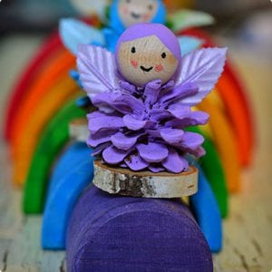 Rainbow Fairy Pine Cone Craft