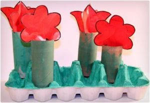 Rainy Day Toilet Paper Roll Flower Craft