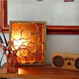 Re-Purposed Lamp Design Using Toilet Paper Rolls