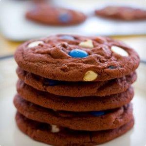 Red Velvet Chocolate Chip Cookies