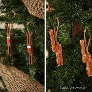Reindeer Clothespin Ornament Craft