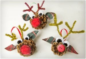 Reindeer Pine Cone Craft