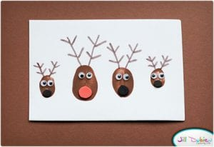 Reindeer Thumbprint Family Cards